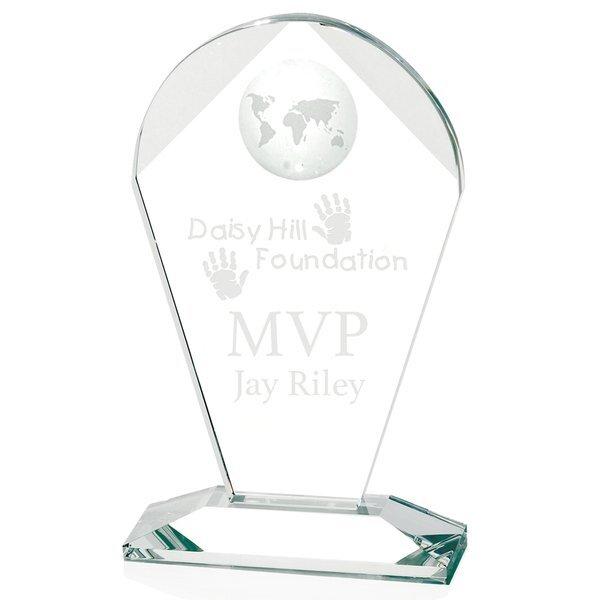 "Geodesic Crystal Award, Large, 10-3/4"""