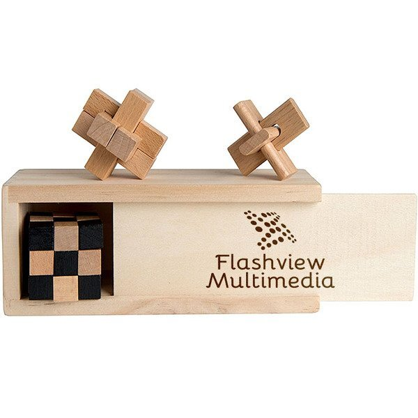 Three-In-One Wooden Puzzle Boxed Set