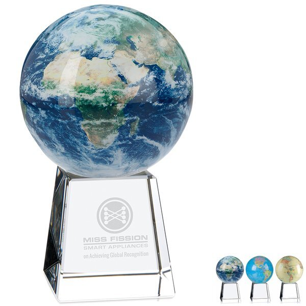 "Mova Globe Award with Crystal Base, 7-5/8"""