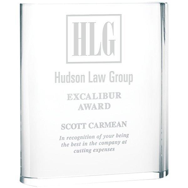 "Triumph Crystal Award, Large, 6-3/4"""