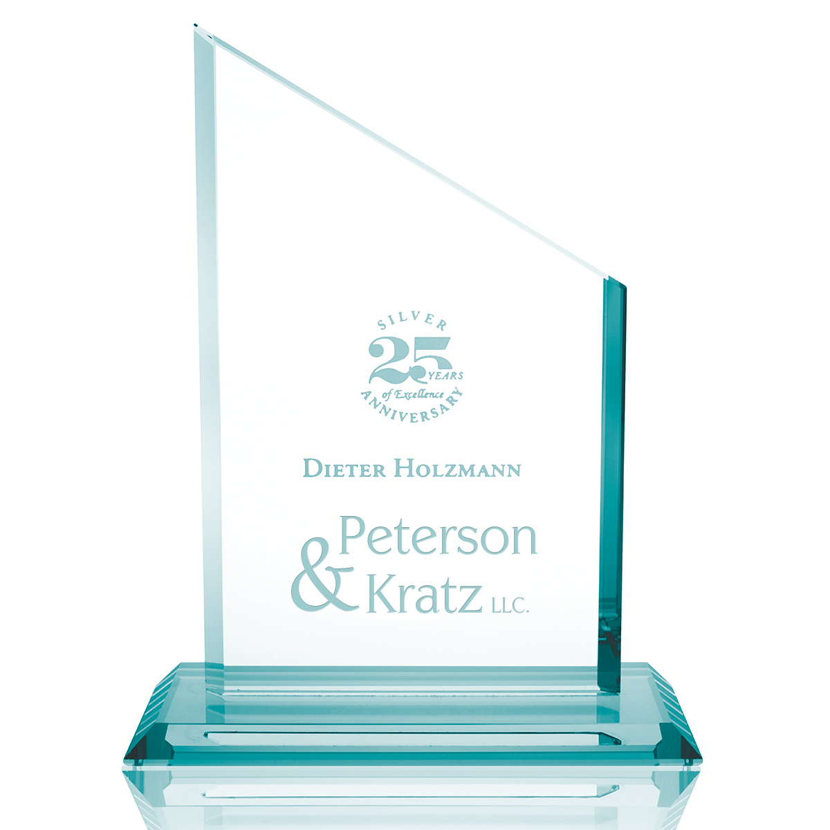 Pinnacle Jade Glass Award, 9-1/2""