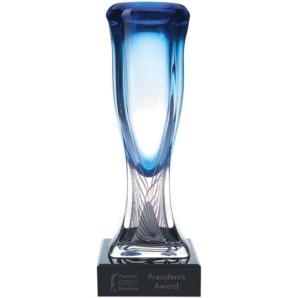Azul Art Glass Award with Glass Base, 17""