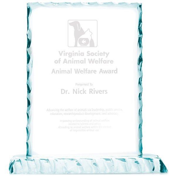 "Ice Jade Glass Award, 9"""