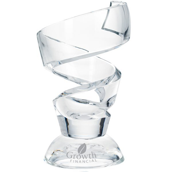 "Blazek Glass® Tronada 24% Lead Crystal Award, 9-3/4"""