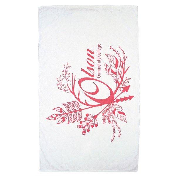 Turkish Signature White Medium Weight Beach Towel, 12 lbs.