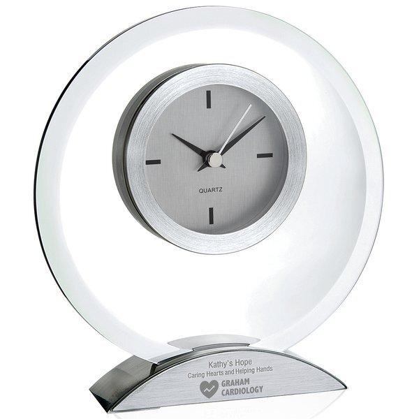 Stimulus Glass & Aluminum Desk Clock