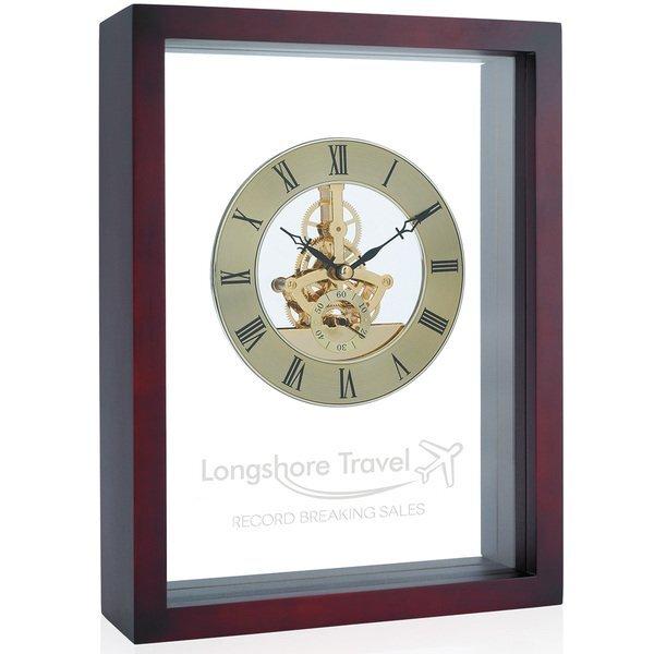 Shadow Box Acrylic & Wood Desk Clock