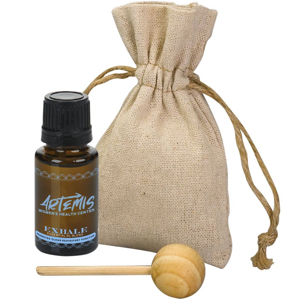 Essential Oil with Wooden Diffuser Gift Set