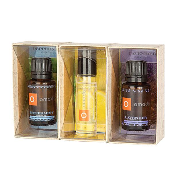 Essential Oils Dropper & Roller Bottle 3 Piece Variety Gift Set