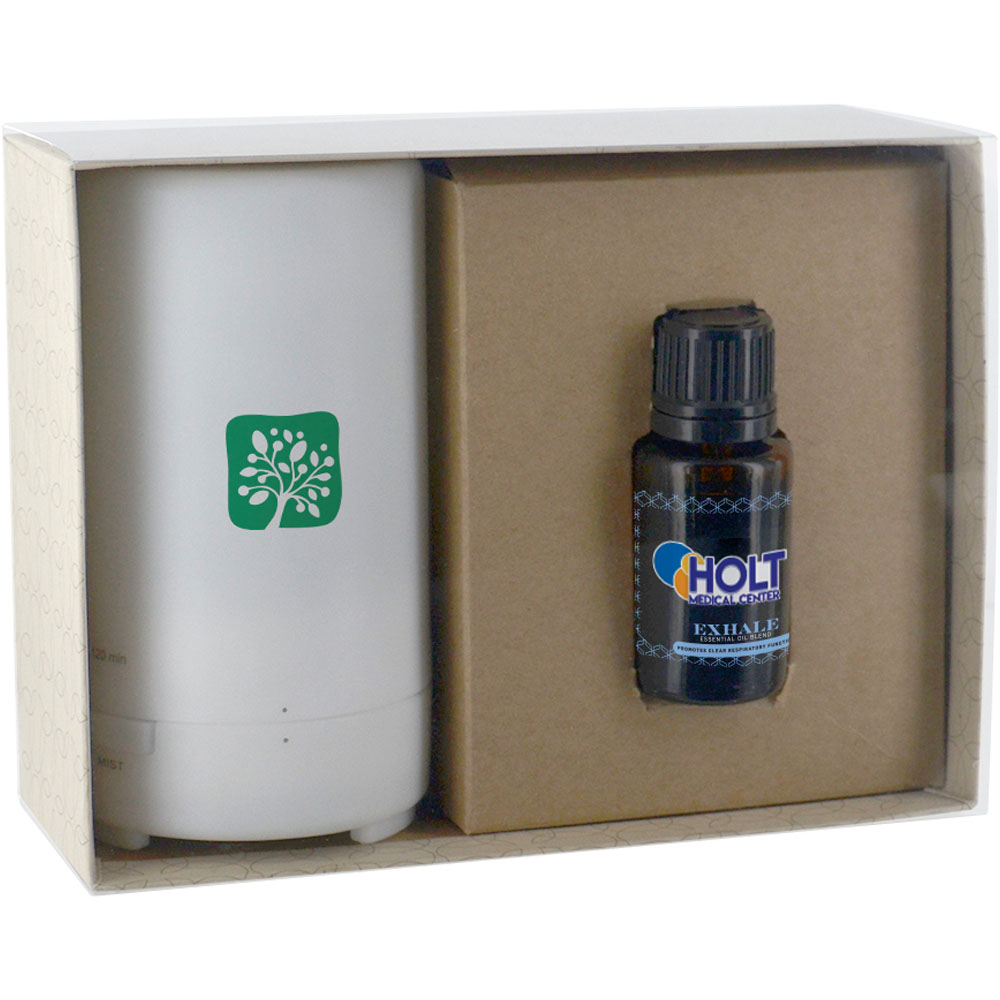 Essential Oil with Electronic Diffuser Gift Set