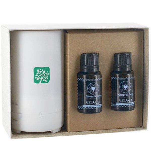 Essential Oils Duo with Electronic Diffuser Gift Set