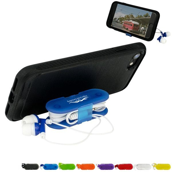 Livingston Earbud Wrap Phone Stand