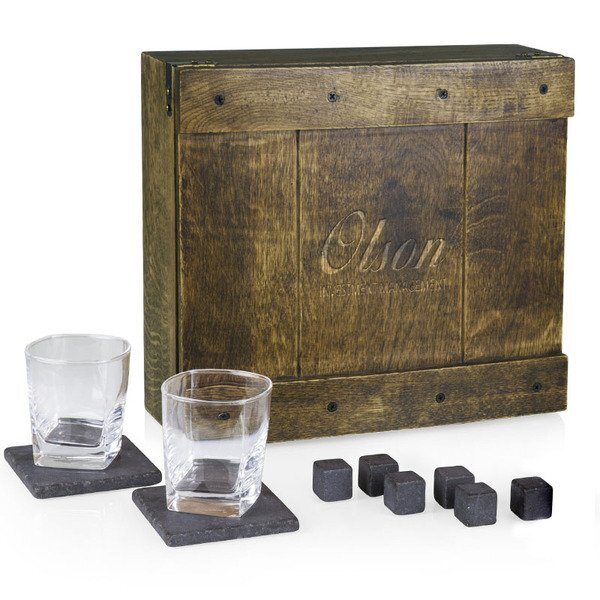 Whiskey Box Oak Gift Set