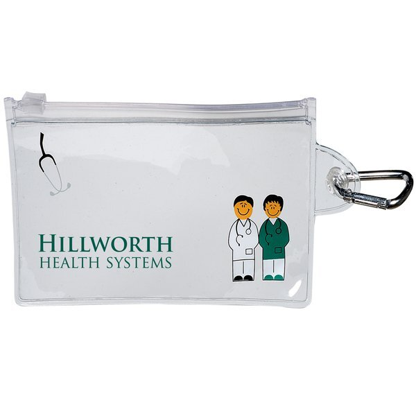 Doctor and Nurse Clear Zip Pouch