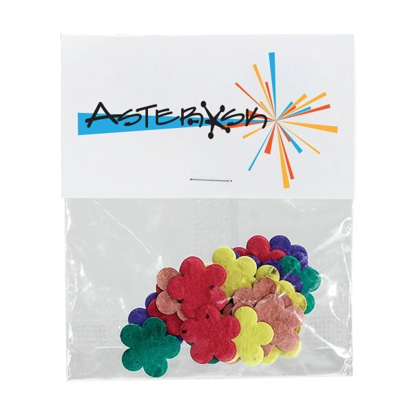 Flowers Seed Paper Confetti Pack w/ Full Color Imprint