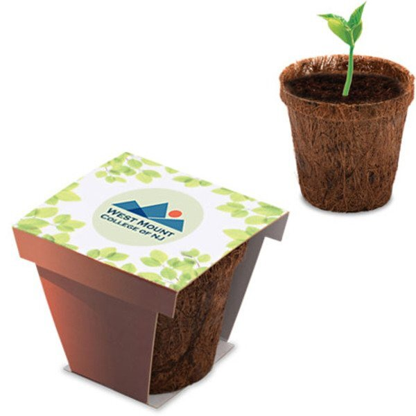 Coco Flower Planter Starter Kit w/ Full Color Imprint