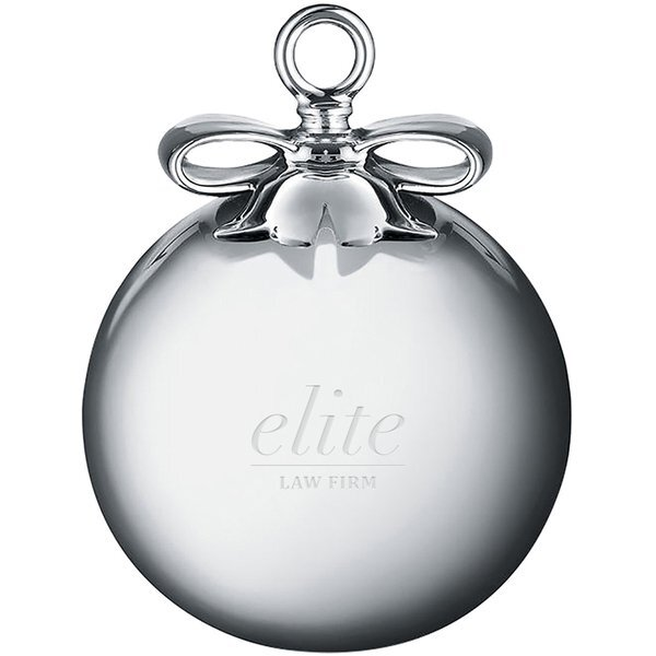 Alessi Round Glass Christmas Ornament