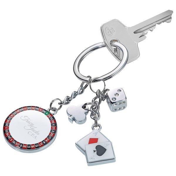 Troika Silver Casino Keychain