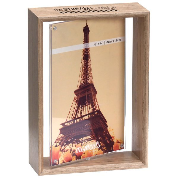"""Wood Spinner Picture Frame, 4"""" x 6"""""""
