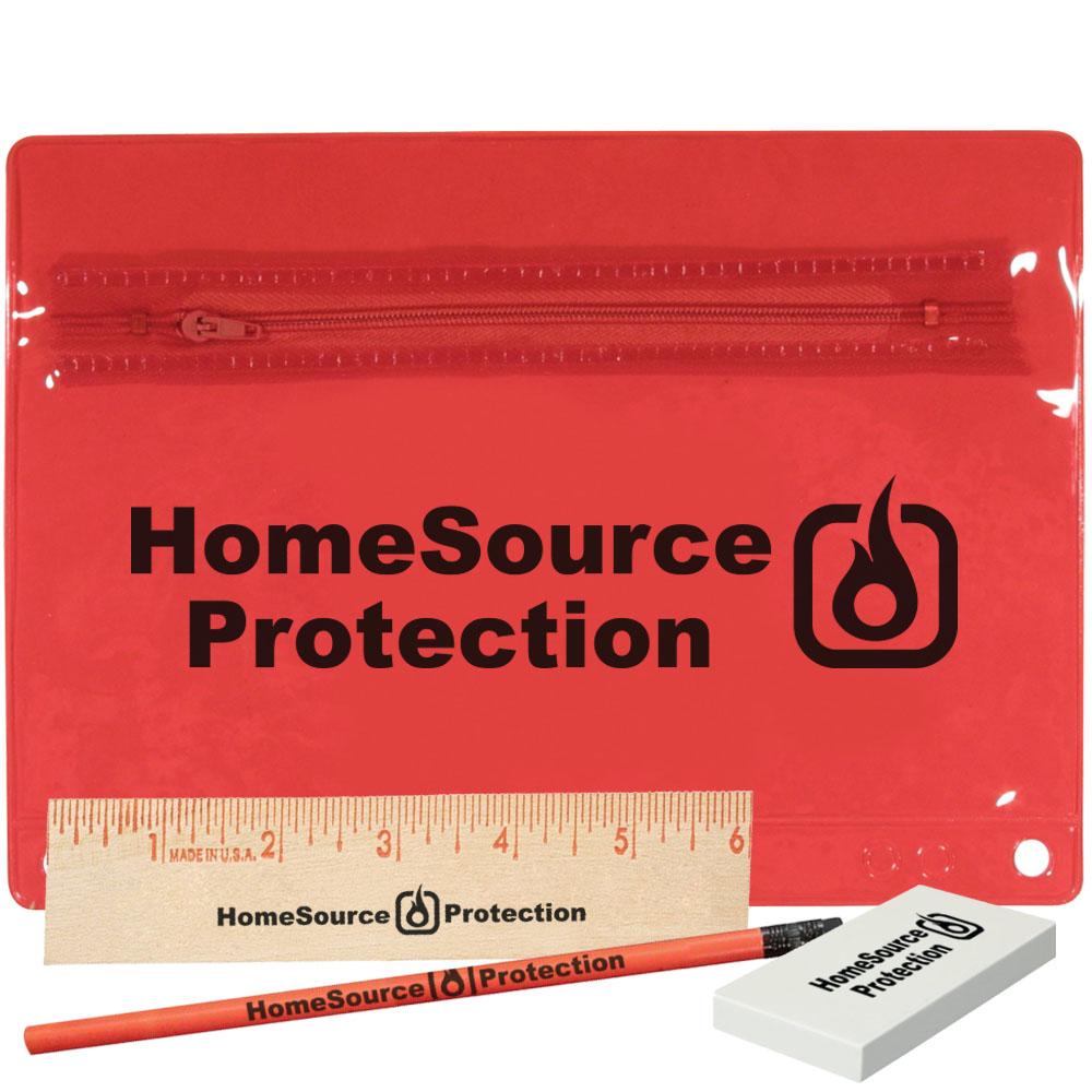 Premium Translucent School Kit with Ruler