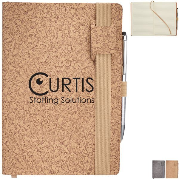 Sintra Cork Soft Bound JournalBook™ & Stylus Pen Bundle Set