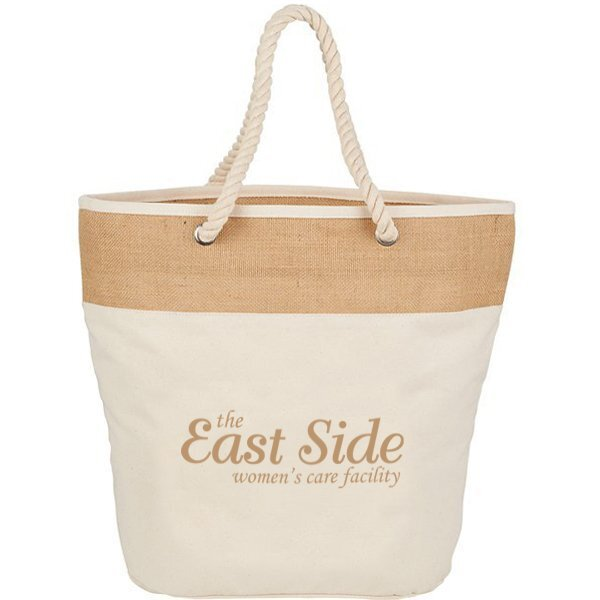 Cotton Canvas & Jute Rope Tote