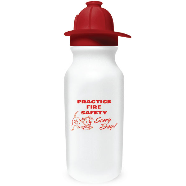 Fireman Helmet Sport Bottle, 20oz., Stock