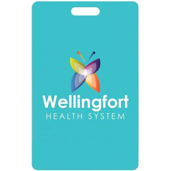 "Credit Card Event Badge Tag w/ Full Color Imprint, 2-1/8"" x 3-3/8"""