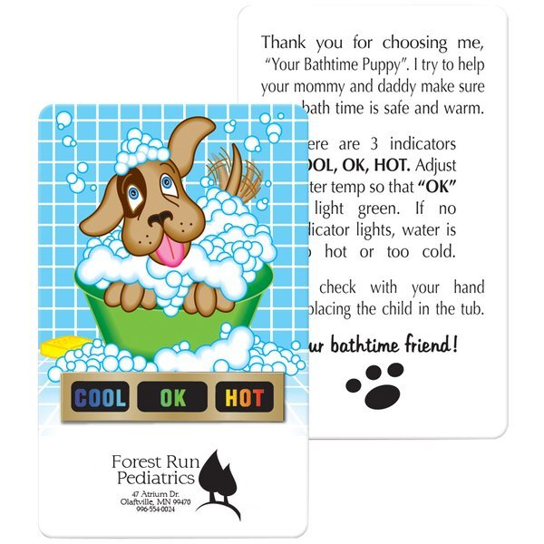 Tub Tester Puppy Bath Thermometer Card