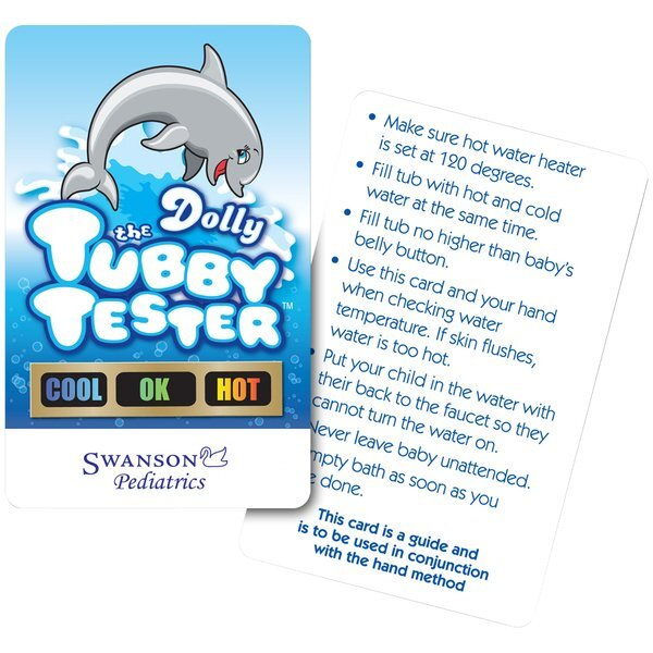 Tub Tester Dolphin Bath Thermometer Card