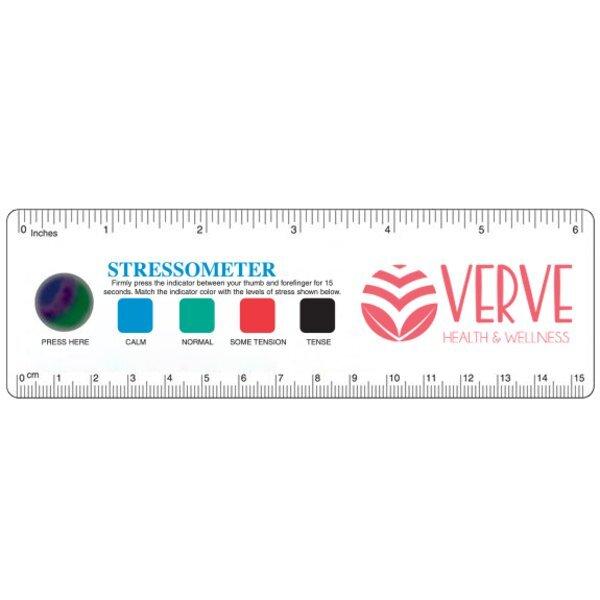 """Jumbo Flexible Plastic Stress Test Ruler, 6"""""""