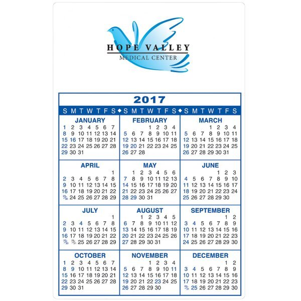 "Repositionable Adhesive Wall Calendar, 5-1/2"" x 8-1/2"""