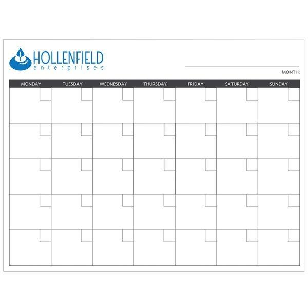 "Dry Erase Wall Calendar, 8-1/2"" x 11"""