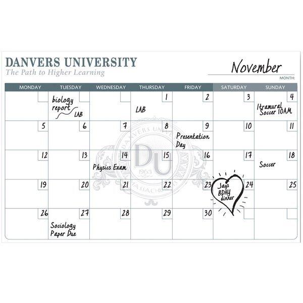 "Dry Erase Wall Calendar, 11"" x 17"""