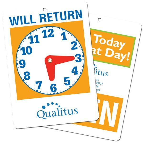 Open/Will Return Hanging Store Clock