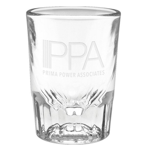 Fluted Shot Glass - Deep Etched, 2oz.