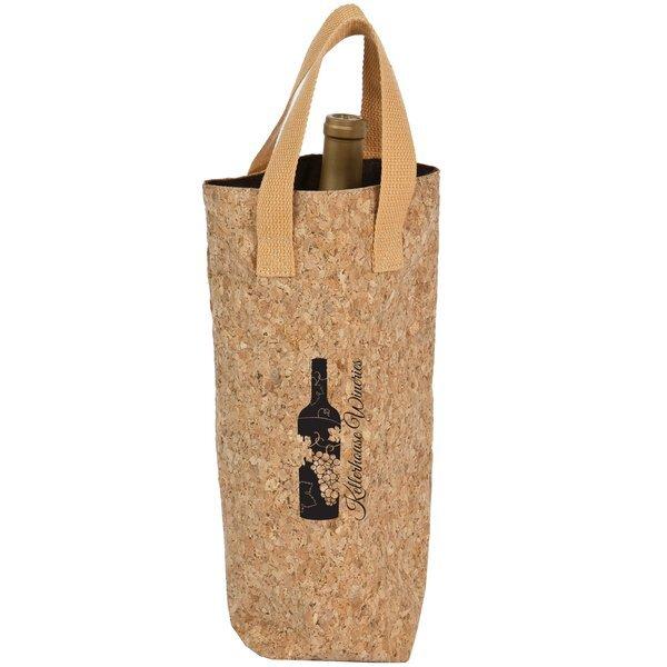 Cork Single Bottle Wine Tote