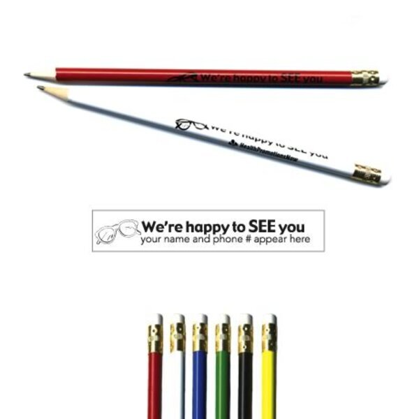 "Pricebuster Pencil - ""We're happy to SEE you"""