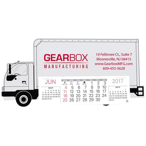 Delivery Truck Monthly Desk Calendar