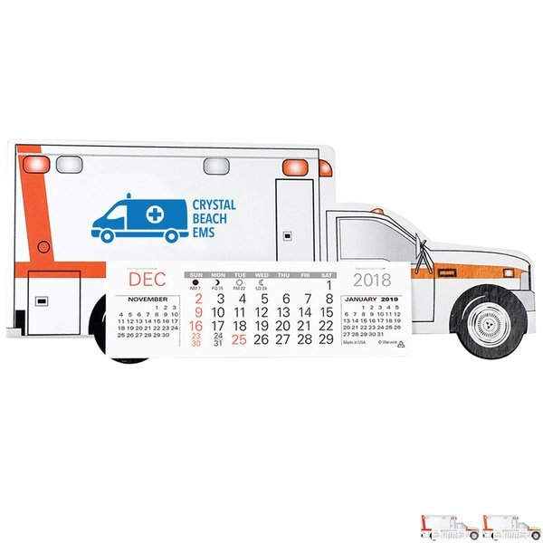 Emergency Squad Ambulance Monthly Desk Calendar