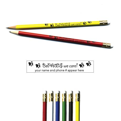 "Pricebuster Pencil -  ""BePaws we care!"""