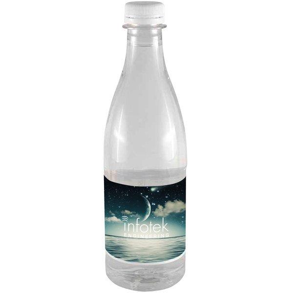 Designer Bottled Spring Water w/ Full Color Imprint, 16.9oz.