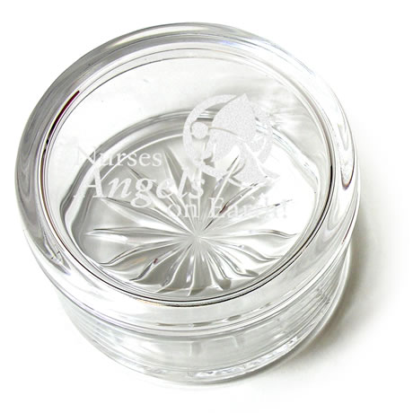 Starburst 24% Full Leaded Crystal Round Box