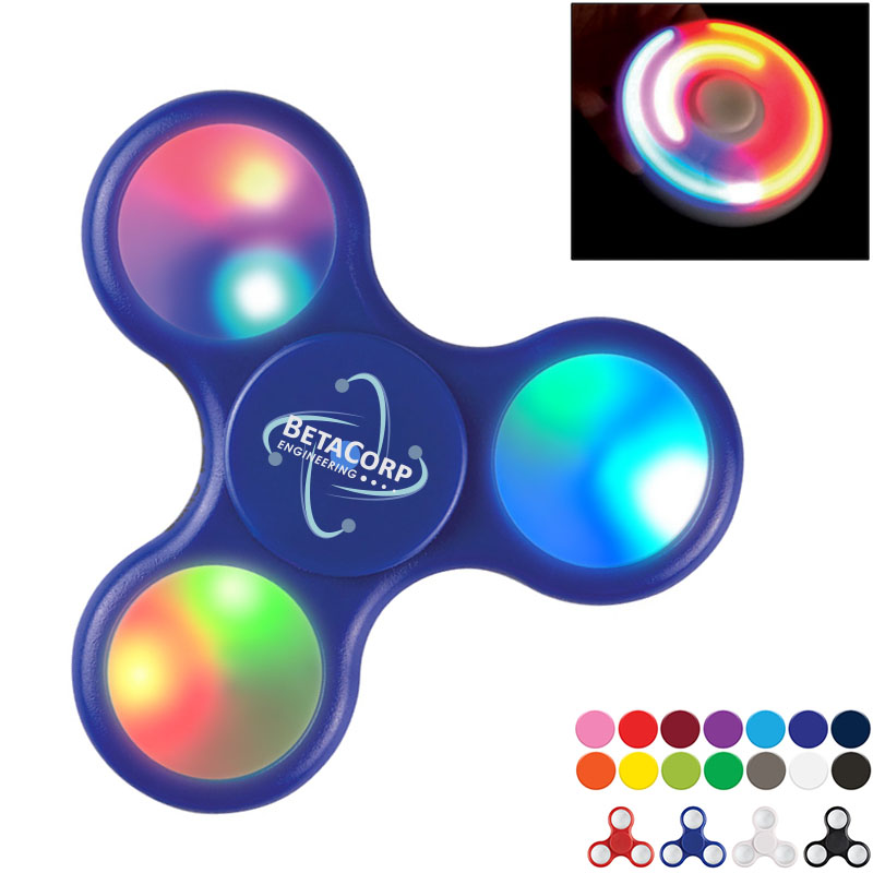 Light Up LED Fidget Stress Relieving Hand Spinner
