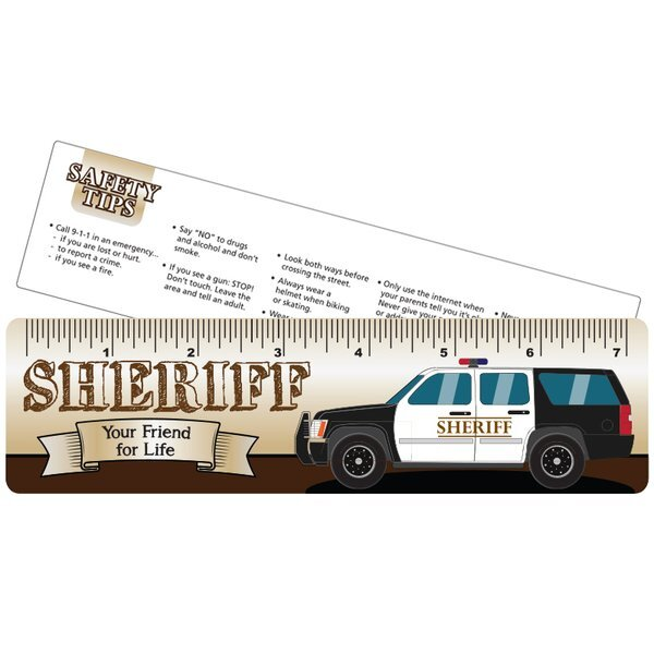 Sheriff Your Friend for Life Laminated Safety Ruler, Stock
