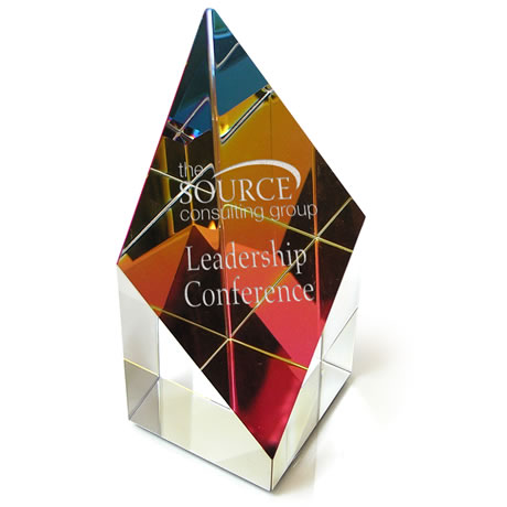 Prism Rainbow Glass Tower Award, Medium, 4""