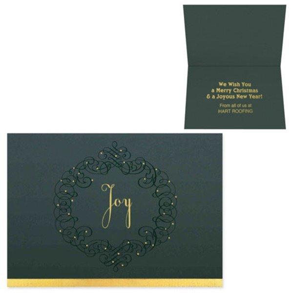 Joy Wreath Holiday Greeting Card