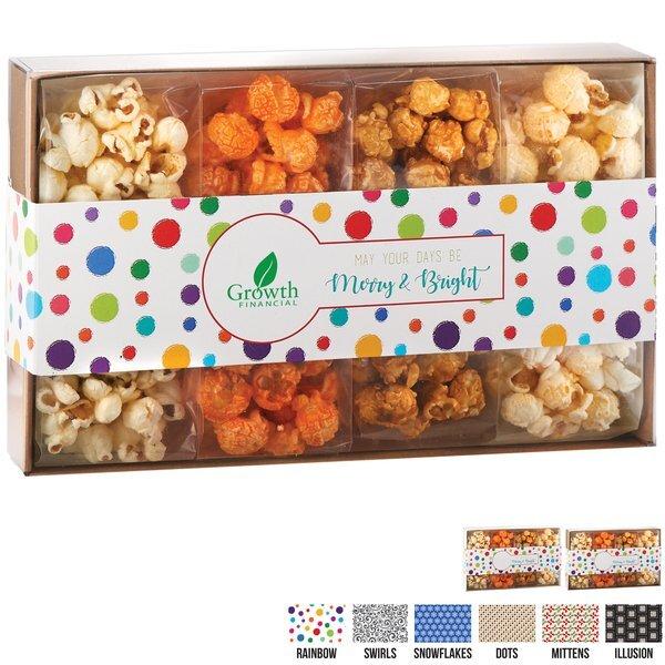 Contemporary Popcorn Gift Box, 4 Classic Flavors
