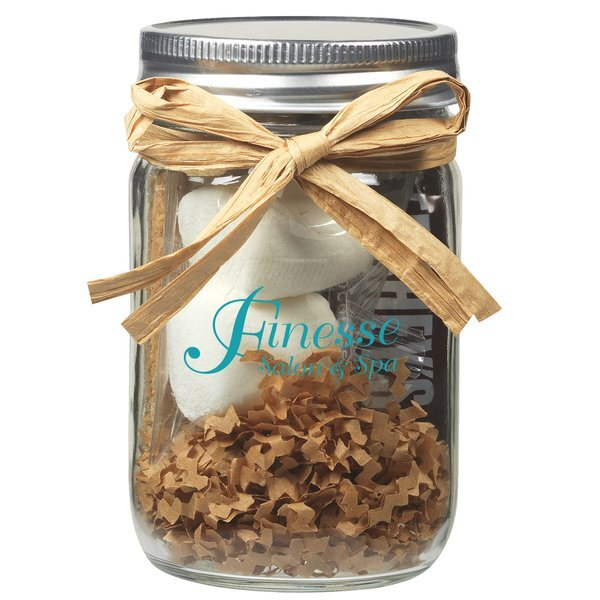 S'mores Kit in Mason Jar, Full Color Imprint