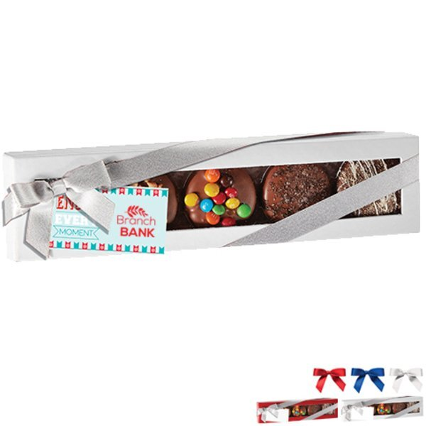 Deluxe Chocolate Covered Oreo® Gift Box, Full Color Imprint
